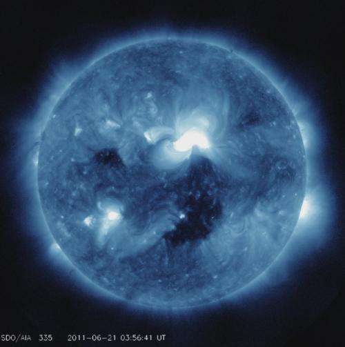 Sun celebrates solstice with flare