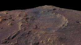 Rare martian lake delta spotted by Mars Express