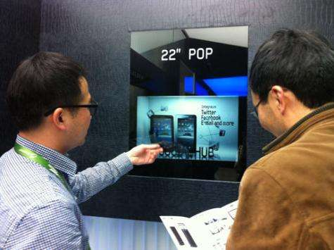 Samsung begins mass production of transparent LCD panel