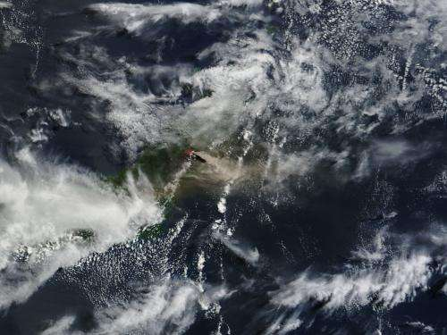 Three active volcanoes spotted on satellite imagery from NASA
