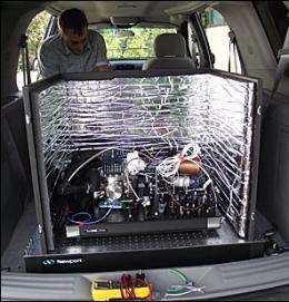 Drive test: NIST Super-stable laser shines in minivan experiment