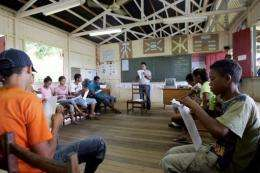 A public school in Xapuri, in northern Brazil