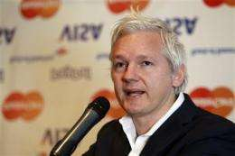 Assange: Financial blockade may close WikiLeaks (AP)