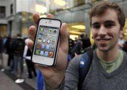 Buyers camp out as new Apple iPhone goes on sale (AP)