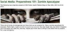 CDC's 'zombie apocalypse' advice an Internet hit (AP)