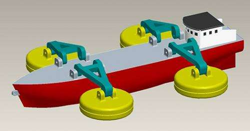 Cheaper and cleaner electricity from wave-powered ships