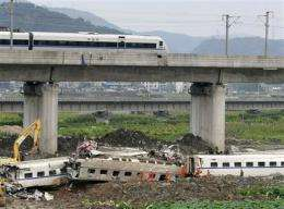 China orders safety inspection after train crash (AP)