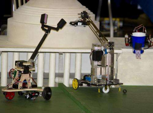 A competition full of hacks: Annual 2.007 finale pits robots against MIT history