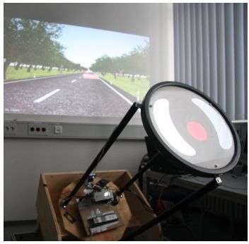 Touch-screen steering wheel keeps drivers focused on the road