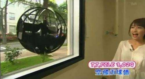 Japanese Ministry of Self-Defense shows off a flying sphere robot (w/ video)