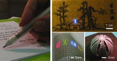 University professors create rollerball-pen ink to draw circuits