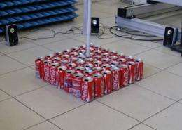 Coke can lens