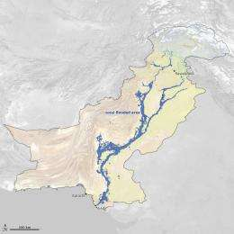 Extreme 2010 Russian fires and Pakistan floods linked meteorologically