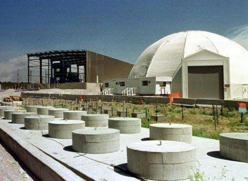 Facilities housing low-level radioactive waste are seen at the Los Alamos National Laboratory in New Mexico