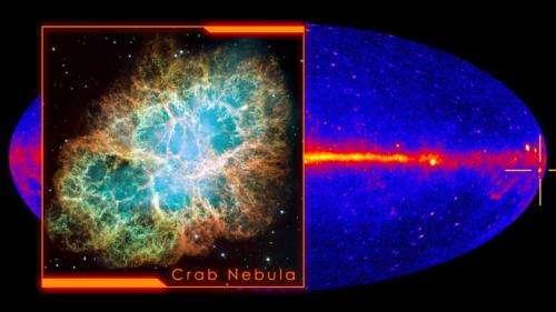 Fermi telescope spots 'superflares' in the Crab Nebula
