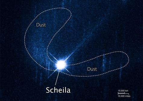 Swift and Hubble probe an asteroid crash (w/ video)
