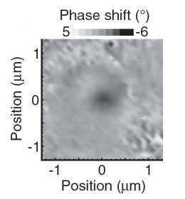 Single molecule can shift the phase of a laser beam