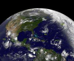 NASA catches 3 tropical cyclones at 1 time