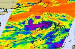 NASA catches system 92W become fifth NW Pacific tropical depression