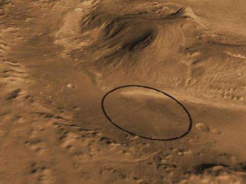 NASA's Next Mars Rover to Land at Gale Crater