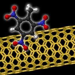 New carbon nanotube sensor can detect tiny traces of explosives
