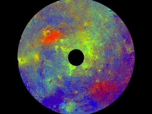 New NASA dawn visuals show vesta's 'color palette'