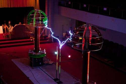 Tesla coils take on Lady Gaga