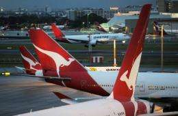 Passengers in Qantas' first and business class will be able to use the Internet in the same way as a Wi-Fi hotspot
