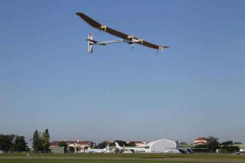 Pioneering Swiss solar-powered aircraft Solar Impulse takes off for display at the Paris International Air Show