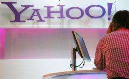 Shares in Yahoo! were down 4.08 percent to $16.47 at midday on Wall Street