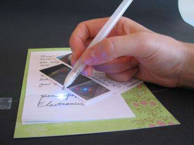 Silver pen has the write stuff for flexible electronics