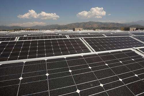 Solar panels are seen in Glendora, California, in 2009