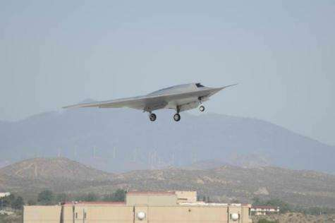 Stealth unmanned combat vehicle makes first flight
