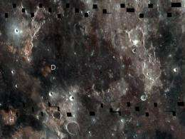 Subtly shaded map of moon reveals titanium treasure troves