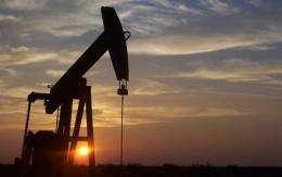 Sun sets on oil wells