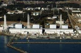 The quake-damaged Fukushima nuclear power plant