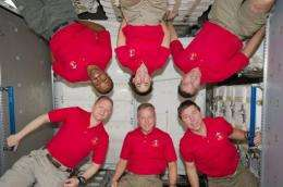 The US astronauts will say farewell to their ISS colleagues, who include two Americans, three Russians and an Italian