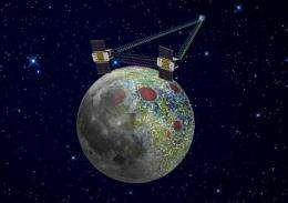 Twin probes to circle moon to study gravity field (AP)