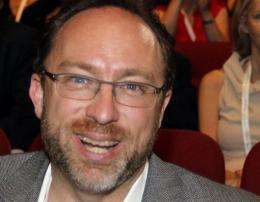 US co-founder of the internet encyclopedia Wikipedia, Jimmy Wales, pictured in June