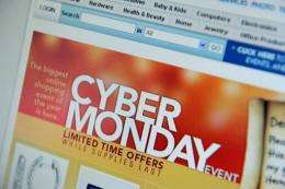 """US shoppers were on pace to drive """"Cyber Monday"""" sales to a new record high"""