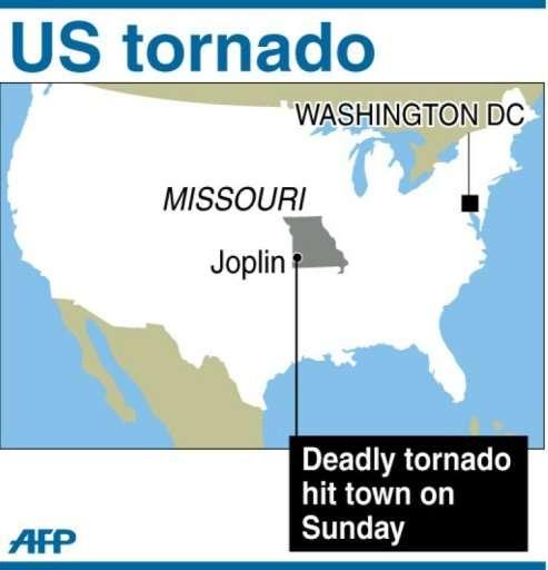 US tornado map of Joplin