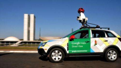 A Google Street View vehicle in Brazil