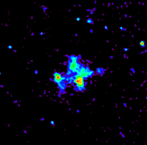 Colliding galaxy cluster unravelled