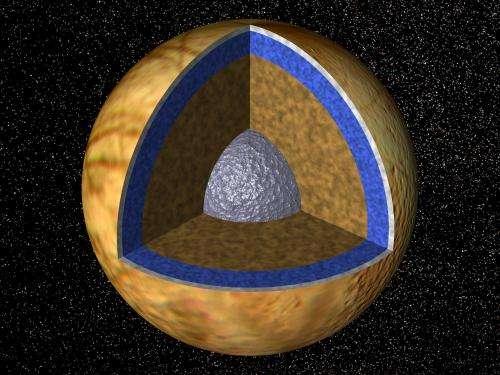 Liquid water near Europa's surface a rarity