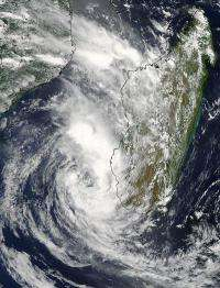 NASA sees Cyclone Giovanna enter the Mozambique Channel