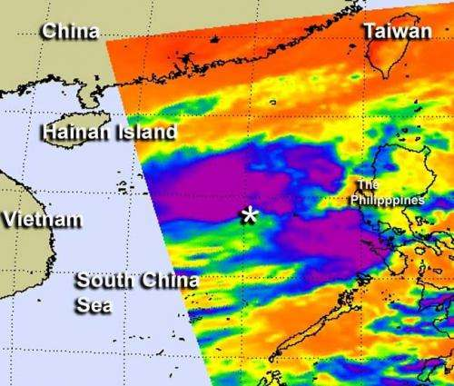 NASA sees strong thunderstorms in Tropical Storm Gaemi