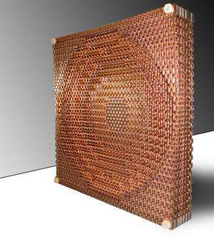 New metamaterial lens focuses radio waves