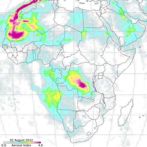 Suomi NPP captures smoke plume images from Russian and African fires