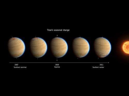 NASA's Cassini Sees Abrupt Turn in Titan's Atmosphere