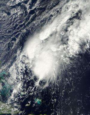 NASA sees some strength in Tropical Storm Patty's brief debut